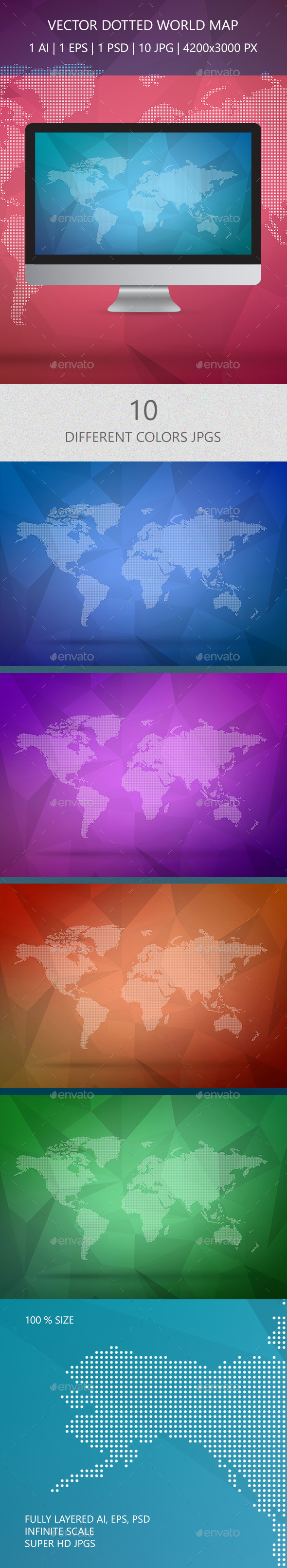 GraphicRiver Dotted Wold Map Vector 10106984