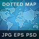 Dotted Wold Map Vector - GraphicRiver Item for Sale
