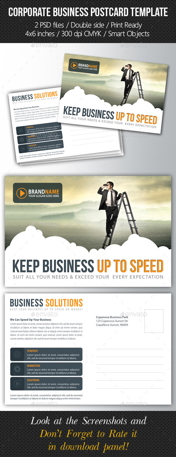 GraphicRiver Corporate Business Postcard Template V02 10107017