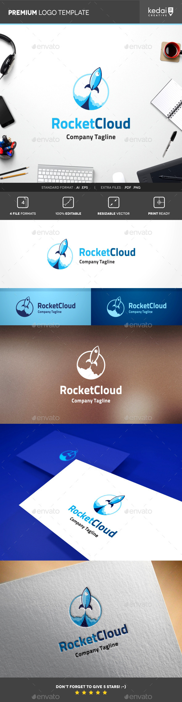 GraphicRiver Rocket Cloud 10107651
