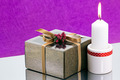 Gift box and candle - PhotoDune Item for Sale