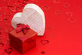 Red gift box with heart - PhotoDune Item for Sale