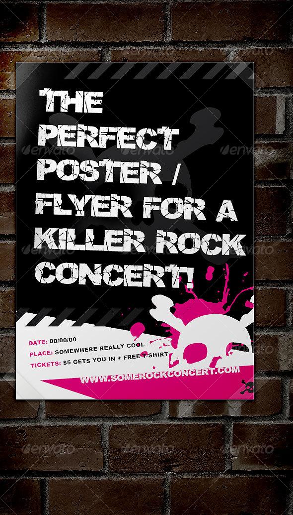GraphicRiver Rock Concert Poster Flyer 42219
