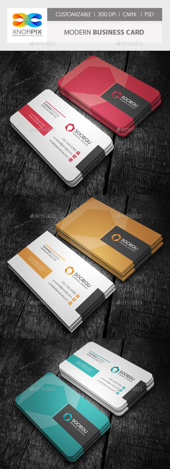 GraphicRiver Modern Business Card 10107765