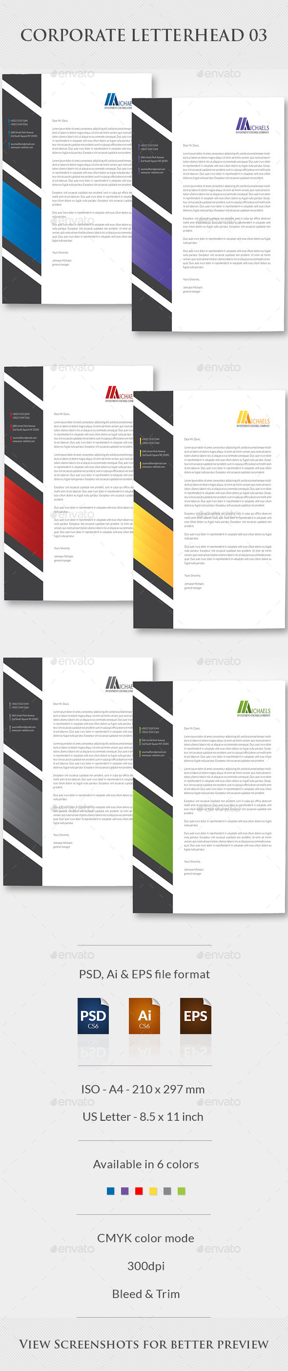 GraphicRiver Corporate Letterhead 03 10108014