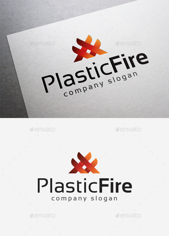 GraphicRiver Plastic Fire Logo 10108223