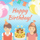 Kids Birthday Party Background - GraphicRiver Item for Sale