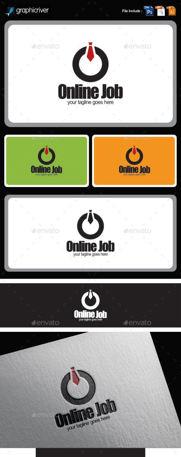 GraphicRiver Online Job Logo Templates 10055482