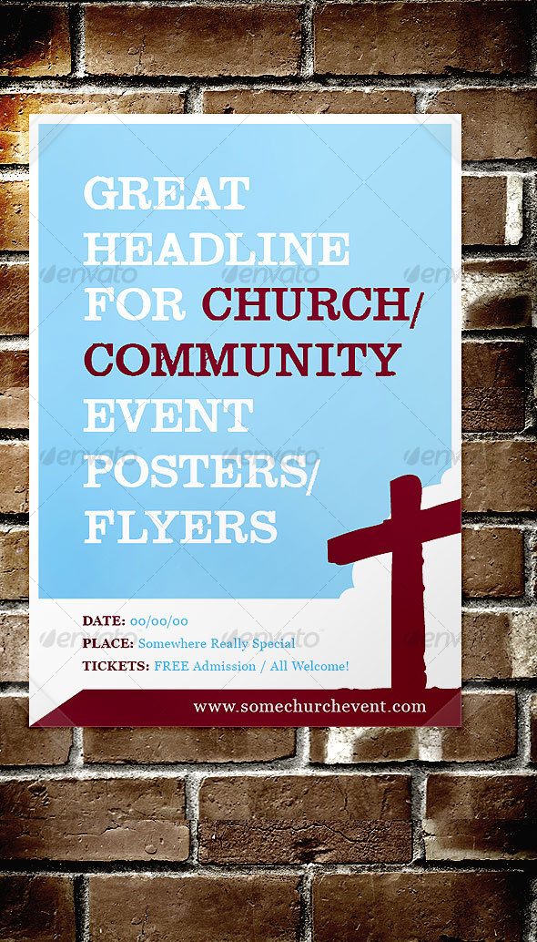 church    community event poster    flyer