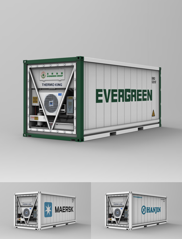 3DOcean 20F Refrigerated Container Reefer 10108503