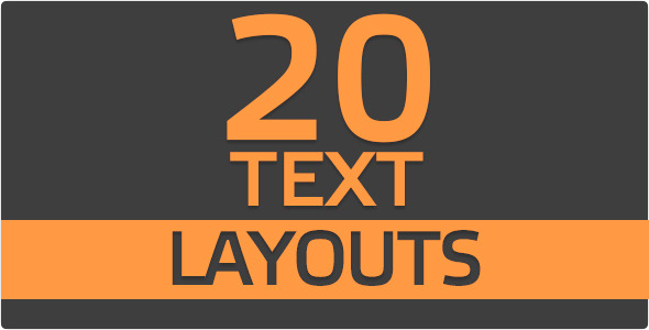 20 Text Layouts (Titles)