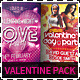 Valentine Day Party Flyer Bundle Pack - GraphicRiver Item for Sale