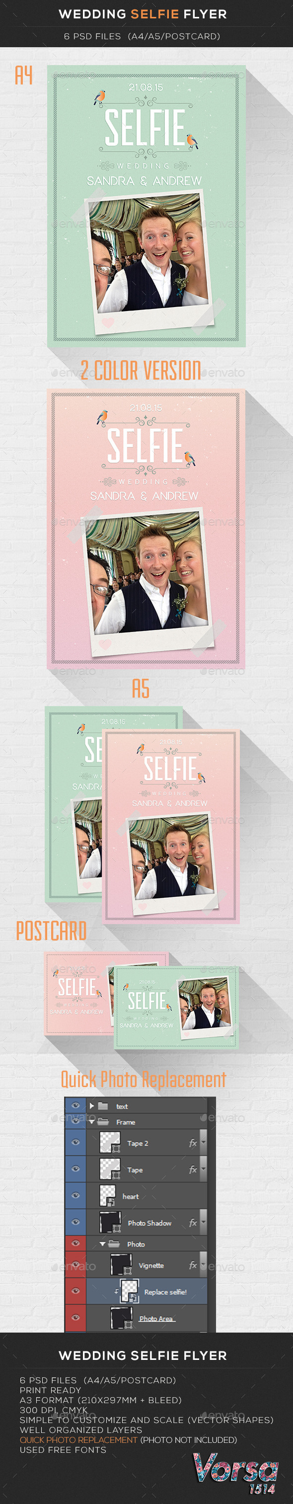GraphicRiver Wedding Selfie Flyer 10108774