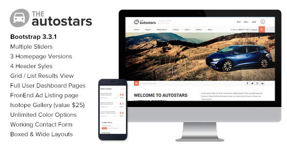 ThemeForest AutoStars Responsive Car Dealership Template 10108795