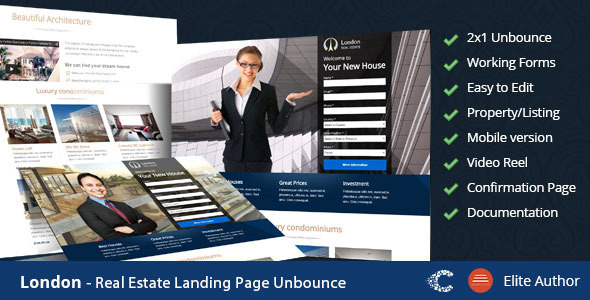 London - Real Estate Landing Page Download