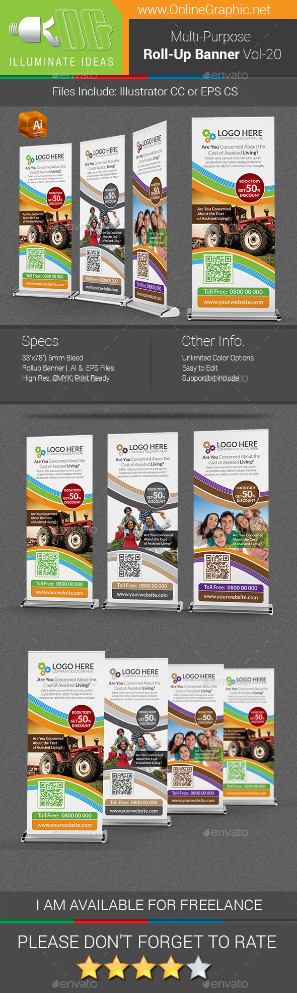 GraphicRiver Multipurpose Business Roll-Up Banner Vol-20 10108818