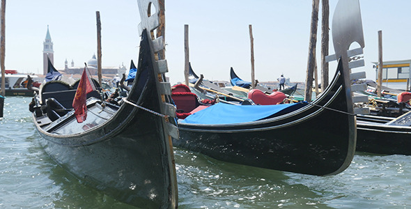 Venice Gondolas Italy Europe