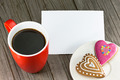 Cup of coffee and heart shape cookies - PhotoDune Item for Sale