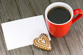 Cup of coffee and heart shape cookie - PhotoDune Item for Sale