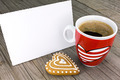 Valentine's greeting card and red coffee cup - PhotoDune Item for Sale