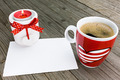 Greeting card with candle and coffee cup - PhotoDune Item for Sale