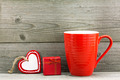 Gift boxes and red cup for Valentine's day - PhotoDune Item for Sale
