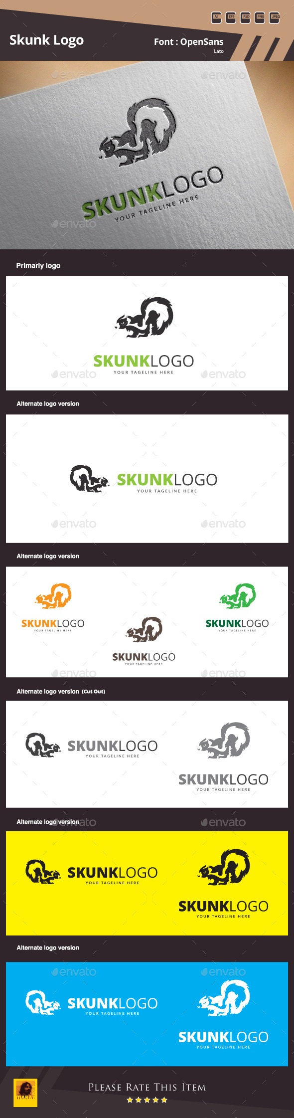 GraphicRiver Skunk Logo Template 10109682
