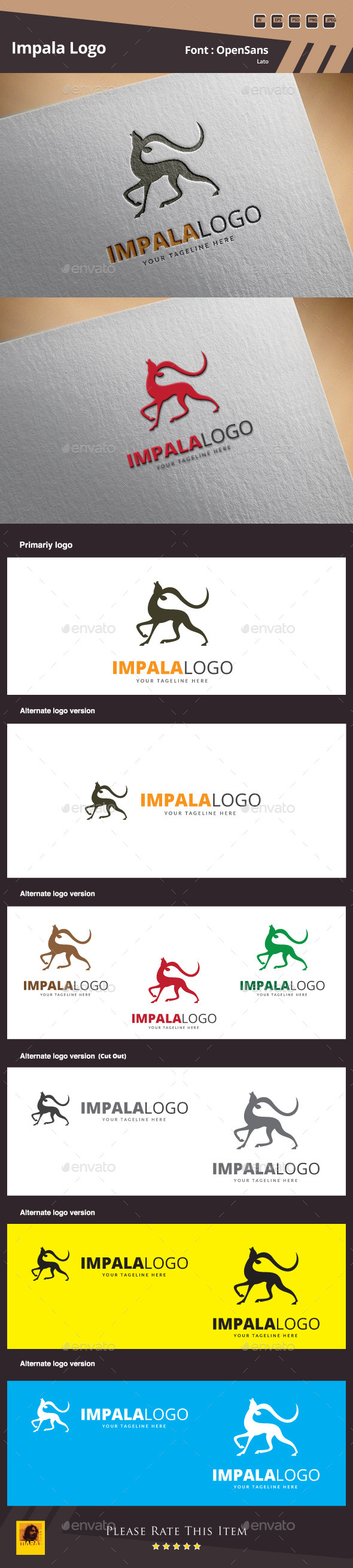 GraphicRiver Impala Logo Template 10109715