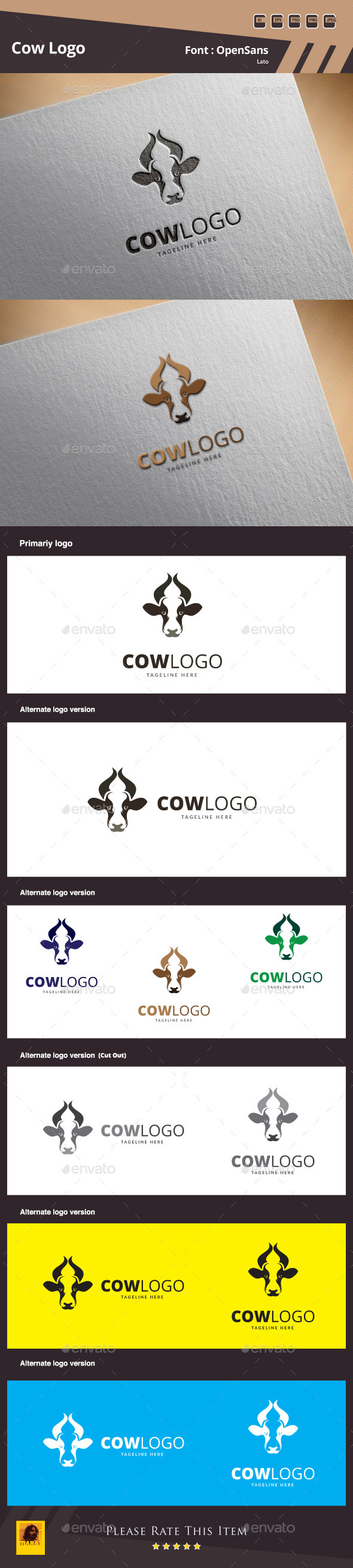 GraphicRiver Cow Logo Template 10109726