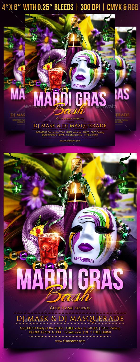 GraphicRiver Mardi Gras Flyer Template 10109766