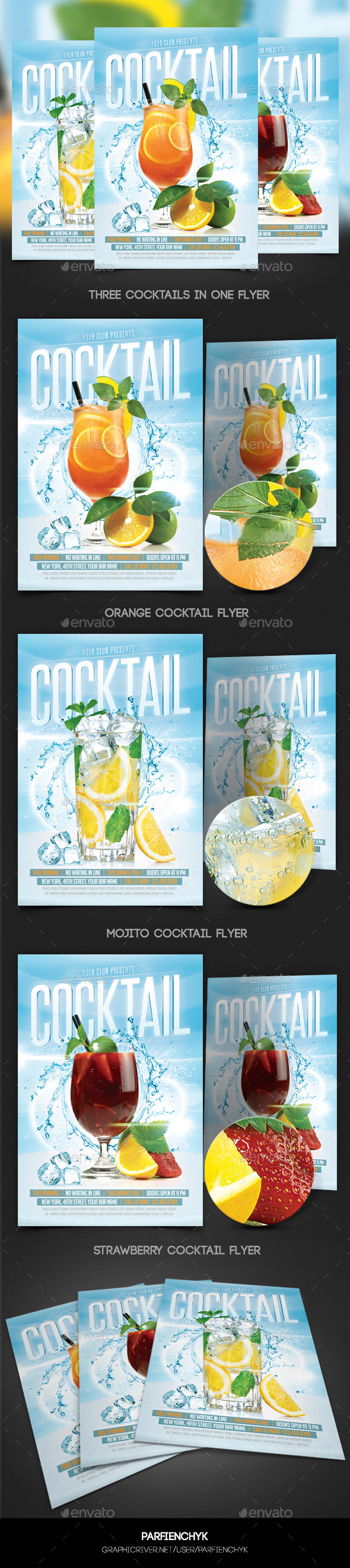 GraphicRiver Cocktails Flyer Template 10109813