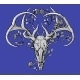 Black and White Deer Skull with Horns - GraphicRiver Item for Sale