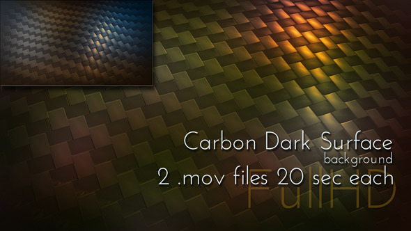 VideoHive Dark Carbon Fiber Surface 10110187