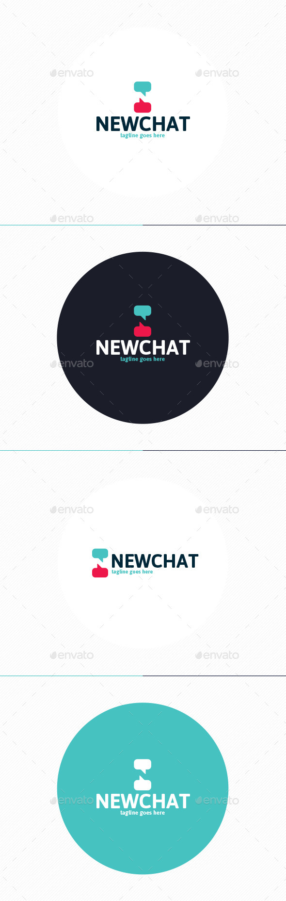 GraphicRiver New Chat Logo Letter N 10110336
