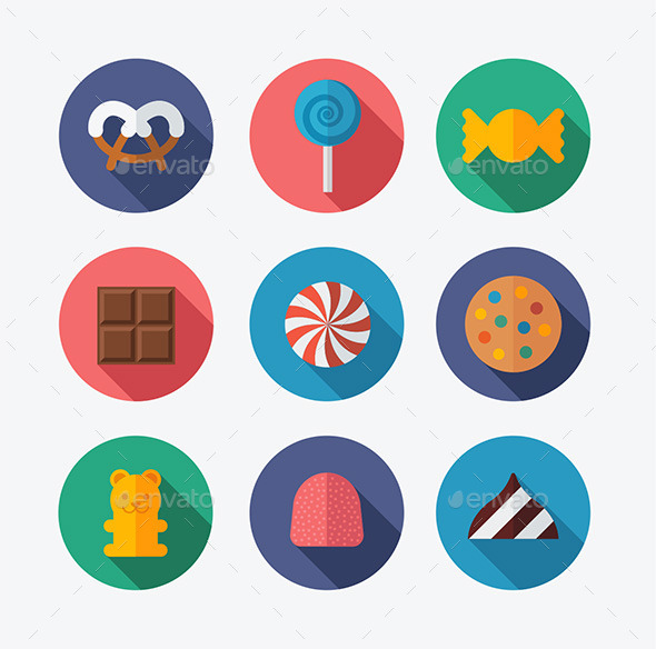 GraphicRiver Candy Flat Icons 10110339