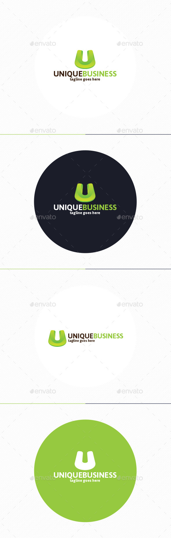 Unique Business Logo Letter U