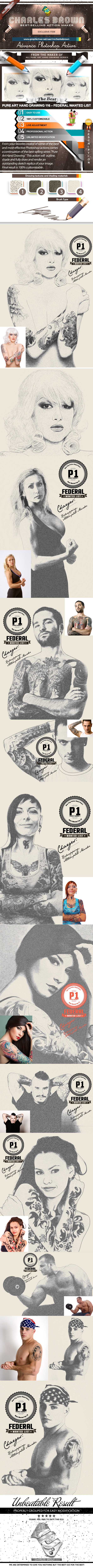 GraphicRiver Pure Art Hand Drawing 116 Federal Wanted List 10110365