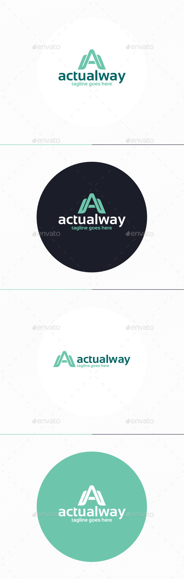 GraphicRiver Actual Way Logo Letter A 10110419