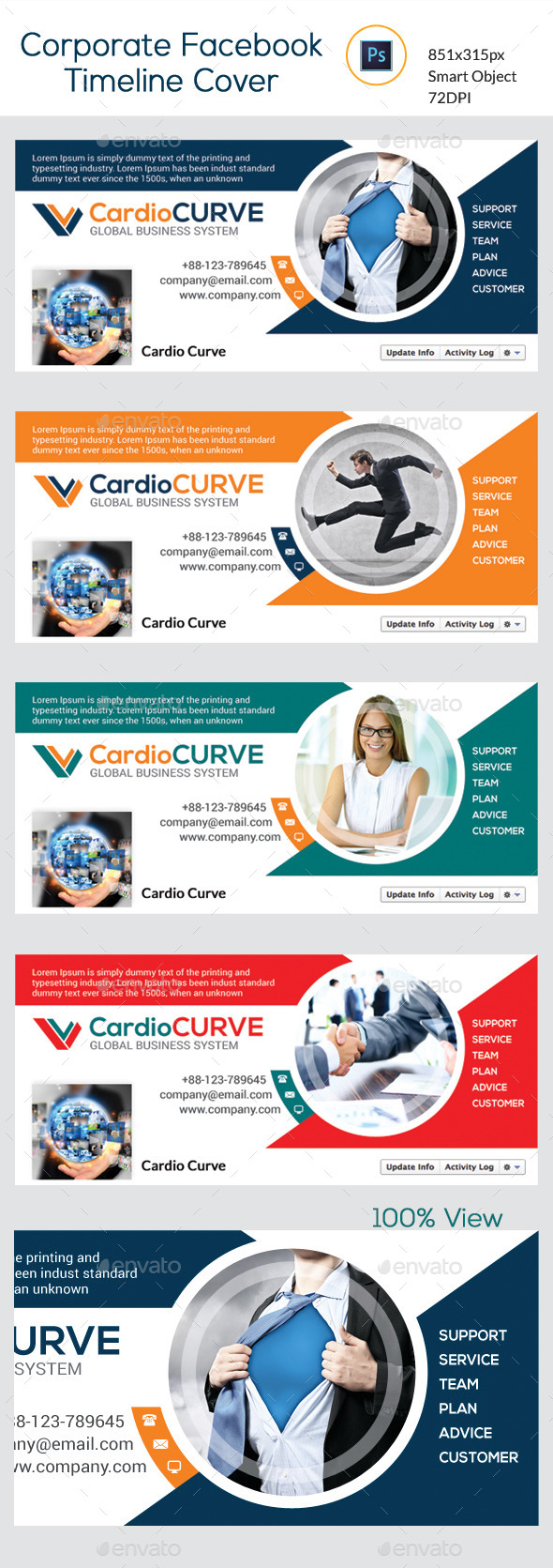 GraphicRiver Corporate Facebook Timeline Cover 10110545