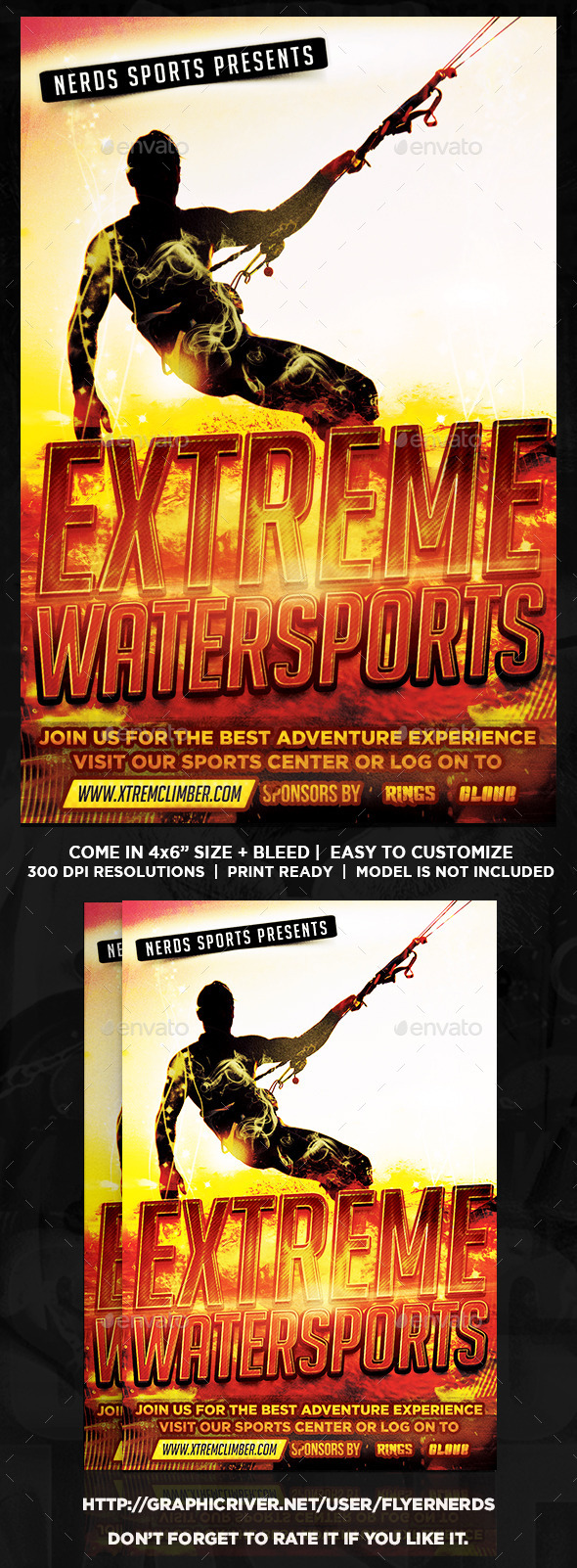 GraphicRiver Extreme Watersports Flyer 10110554