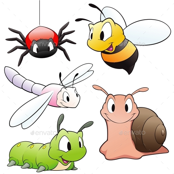GraphicRiver Cartoon Insects 10110561