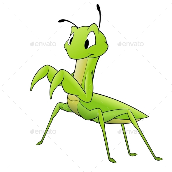 GraphicRiver Cartoon Mantis 10110563