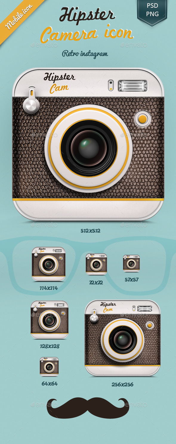 GraphicRiver Hipster Camera Icon 10110863