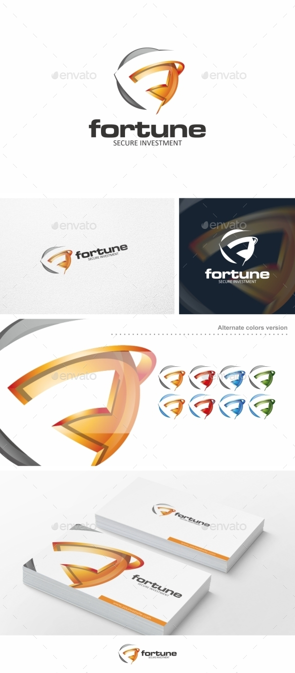 GraphicRiver Fortune F Letter Logo Template 10111014