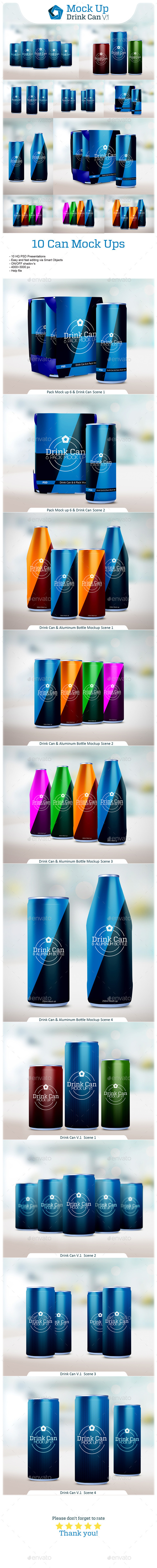 GraphicRiver Drink Can Bundle V.1 10111095
