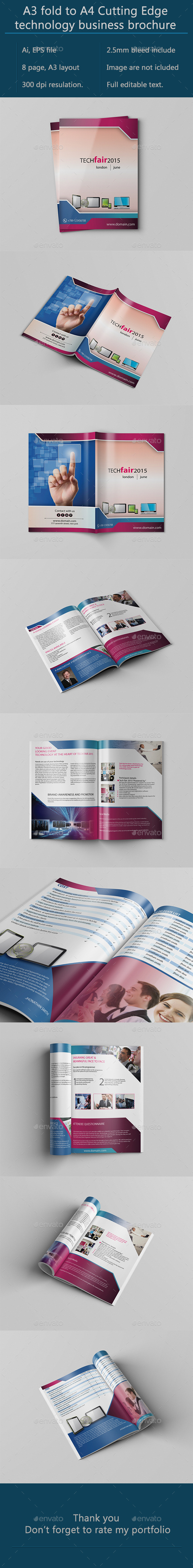 GraphicRiver A3 Bifold Technology Brochure 10066321