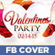 Valentines Love Party Facebook Timeline Cover  - GraphicRiver Item for Sale