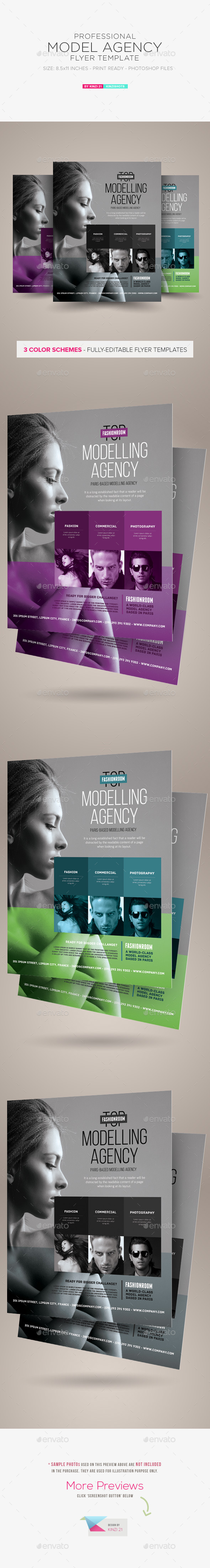 GraphicRiver Model Agency Flyer 10111142
