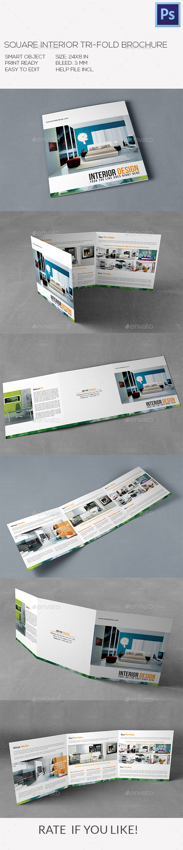 GraphicRiver Square Interior Brochure 10111147