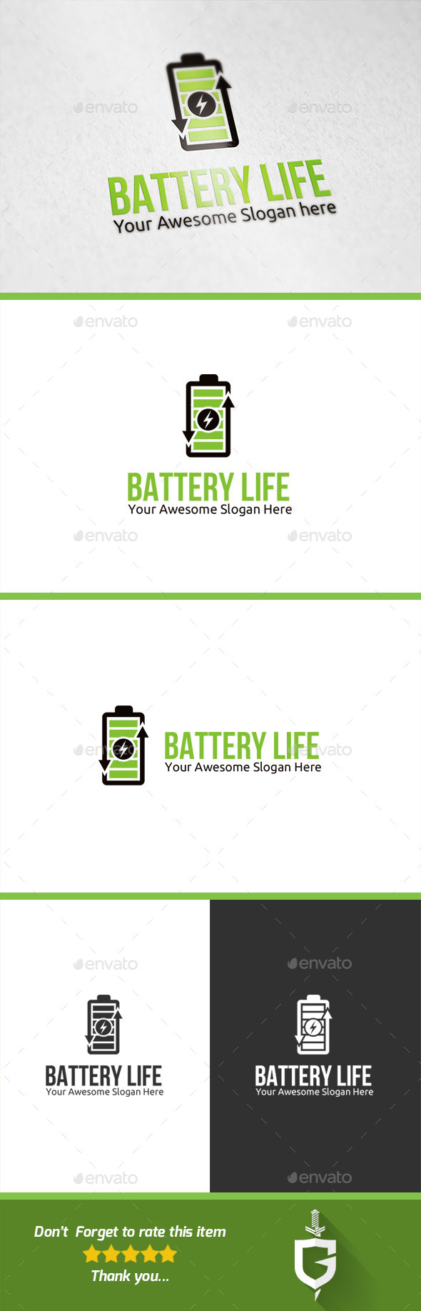 GraphicRiver Battery Life Logo Template 10111225